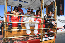 Drivers presentation: Raphael Matos, Luczo Dragon Racing, Ed Carpenter, Vision Racing, Milka Duno, Dreyer & Reinbold Racing, Justin Wilson, Dale Coyne Racing