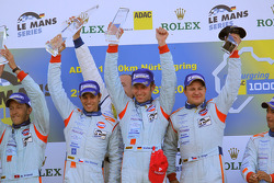 LMP1 podium: class and overall winners Jan Charouz, Tomas Enge and Stefan Mücke