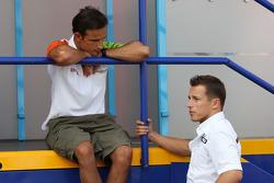 Vitantonio Liuzzi, Test Driver, Force India F1 Team, Christian Klien, Test Driver, BMW Sauber F1 Team