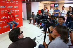 Luca Badoer, Scuderia Ferrari, Press Conference