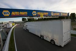 NASCAR Nationwide Series trucks arrive at Circuit Gilles-Villeneuve