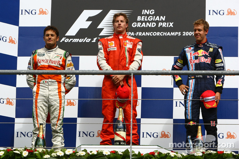 2009: 1. Kimi Räikkönen, 2. Giancarlo Fisichella, 3. Sebastian Vettel