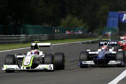 Rubens Barrichello, BrawnGP, Kazuki Nakajima, Williams F1 Team