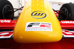 F2 logo and Williams logo on the nose of an F2 car