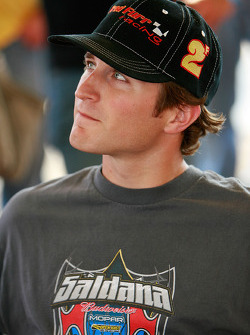 Kasey kahne, driver of the #9 looks on during the drivers meeting