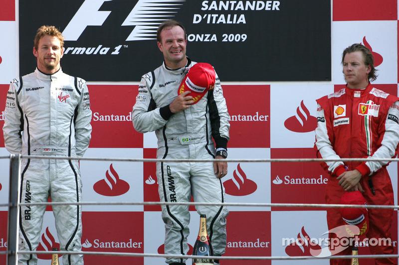 2009: 1. Rubens Barrichello, 2. Jenson Button, 3. Kimi Räikkönen