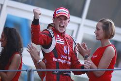 Nico Hulkenberg celebrates winning the 2009 GP2 Series championship