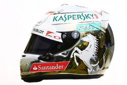 Il casco di  Sebastian Vettel, Ferrari