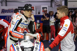 Scott Redding, Pramac Racing; Casey Stoner, Ducati Team