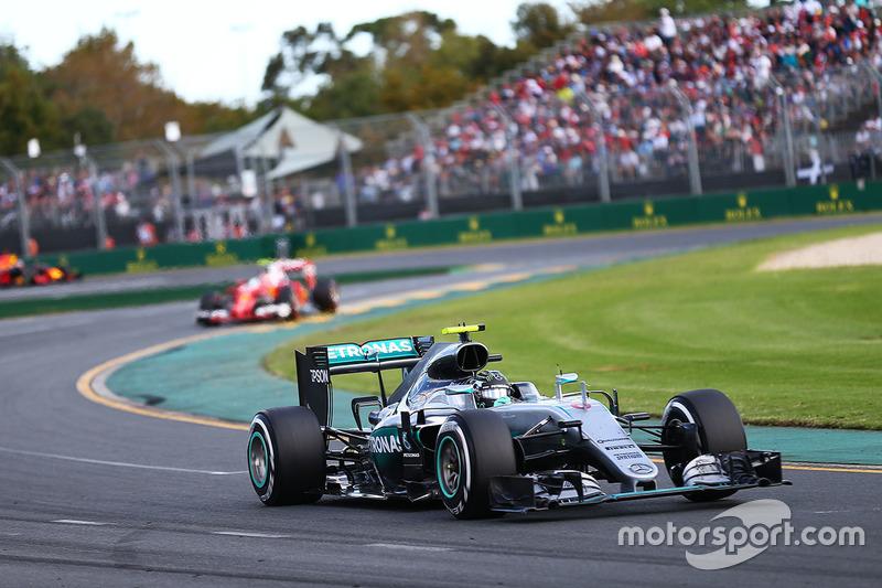 Nico Rosberg durante el GP de Australia