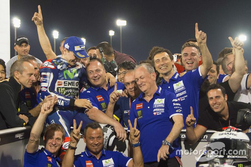 El ganador de carrera, Jorge Lorenzo, Yamaha Factory Racing