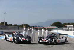 #1 Porsche Team, Porsche 919 Hybrid: Timo Bernhard, Mark Webber, Brendon Hartley, #2 Porsche Team Porsche 919 Hybrid: Romain Dumas, Neel Jani, Marc Lieb