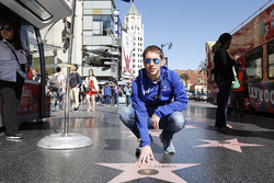 Robin Frijns, Amlin Andretti Formula E Team op de Walk of Fame