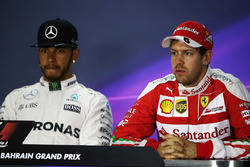 Press conference: Lewis Hamilton, Mercedes AMG F1 Team and Sebastian Vettel, Ferrari