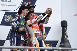 Podium: Race winner Marc Marquez, Repsol Honda Team, Honda; second place Jorge Lorenzo, Movistar Yamaha MotoGP, Yamaha; third place Andrea Iannone, Ducati Team, Ducati
