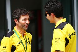 David Menochet, Renault Sport F1 Team con Esteban Ocon, piloto de pruebas de Renault Sport F1 Team