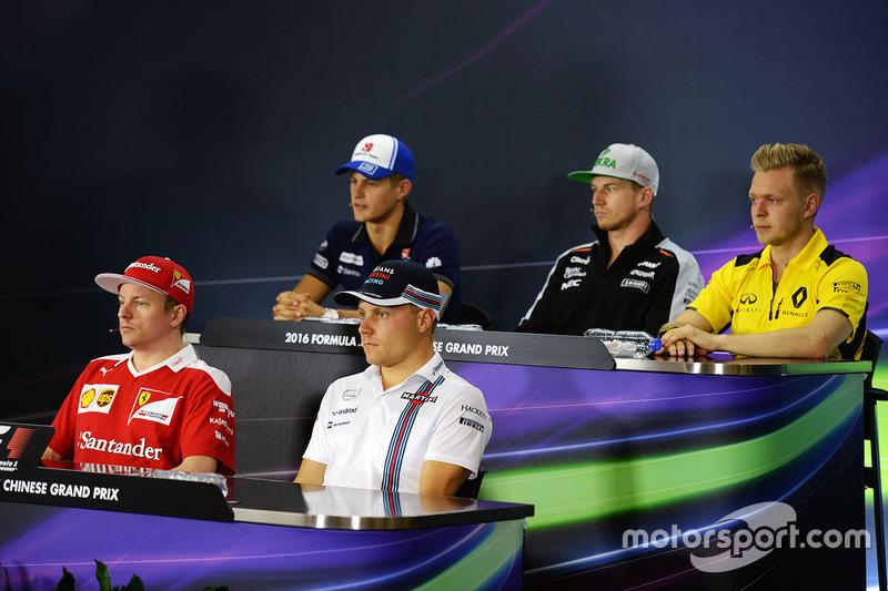 Conférence de presse : Marcus Ericsson, Sauber, Nico Hulkenberg, Sahara Force India F1, Kevin Magnussen, Renault Sport F1 Team, Kimi Raikkonen, Ferrari et Valtteri Bottas, Williams