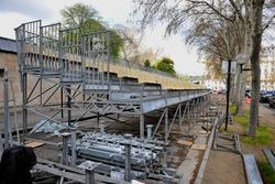 ePrix de París, el circuito urbano en construcción