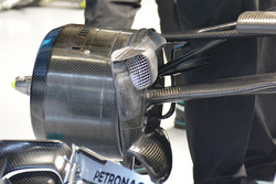 Detalle frontal del Mercedes AMG F1 Team W07