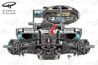 Mercedes W07 front suspensions