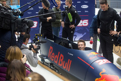 Daniil Kvyat, Red Bull Racing takes part in a bobsled practice session