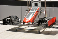 Détails de l'aileron avant de la Haas F1 Team VF-16