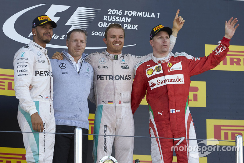 1. Nico Rosberg, 2. Lewis Hamilton, 3. Kimi Räikkönen