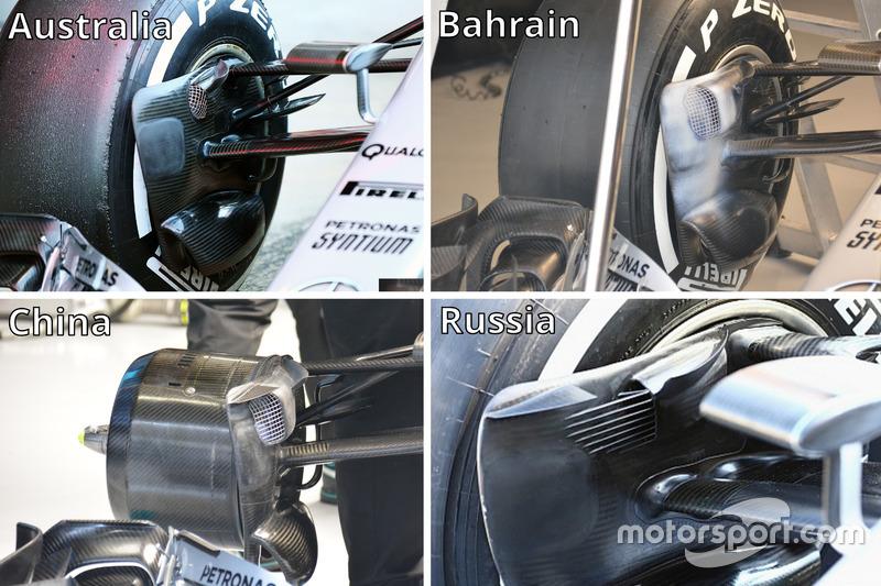 Les écopes de freins de la Mercedes AMG F1 Team W07