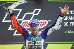 Podium: winnaar Jorge Lorenzo, Yamaha Factory Racing