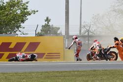 Marc Márquez, Repsol Honda Team, Andrea Dovizioso, Ducati Team crash