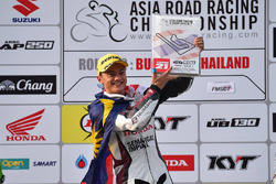 Podium SuperSports 600cc: juara lomba Zaqhwan Zaidi