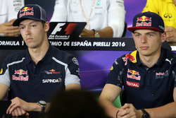 Daniil Kvyat, Scuderia Toro Rosso and Max Verstappen, Red Bull Racing
