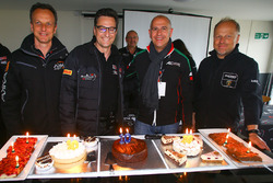 Celebration of 10 years of GT3 Competition bersama Jerome Policand, Akka Asp - Laurent Gaudin, Blancpain Endurance Promoter dan Mark Lemmer, Barwell Motorsport Team Manager
