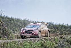 Kris Meeke, Citroën World Rally Team prova la Citroën C3 WRC 2017