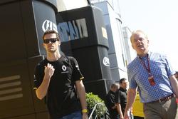Jolyon Palmer, Renault Sport F1 Team, mit seinem Vater Jonathan Palmer