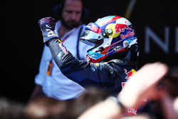 Winnaar Max Verstappen, Red Bull Racing viert in parc ferme