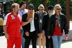 ZZ Top band visit the paddock