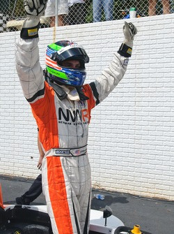 Race winner Jonathan Summerton celebrates