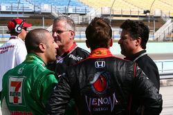 Tony Kanaan, Marco Andretti and Michael Andretti