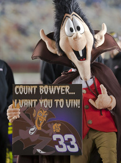 Count Dracula shows his support for Clint Bowyer, Richard Childress Racing Chevrolet