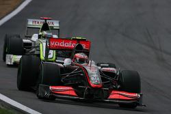 Heikki Kovalainen, McLaren Mercedes e Jenson Button, Brawn GP