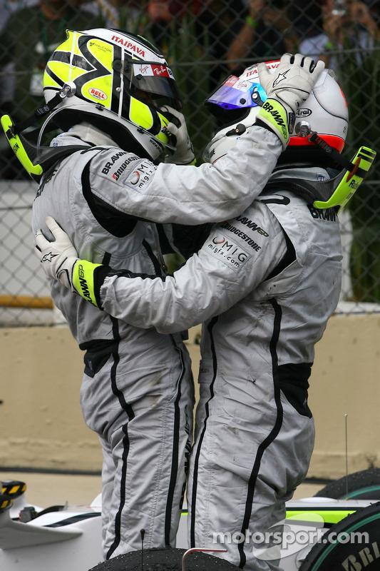 Jenson Button, Brawn GP and Rubens Barrichello, Brawn GP