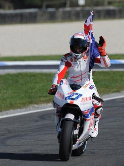 Race winner Casey Stoner, Ducati Marlboro Team celebrates