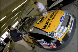 The No. 6 Northern Tool + Equipment Ford goes through inspection