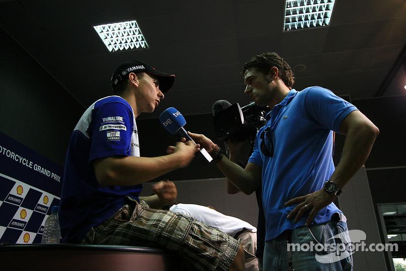 Conferencia de prensa:  segundo lugar Jorge Lorenzo, Fiat Yamaha Team