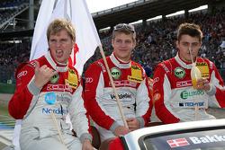 Christian Bakkerud, Kolles TME, Audi A4 DTM; Johannes Seidlitz, Kolles TME, Audi A4 DTM; Tomas Kostka, Kolles TME, Audi A4 DTM
