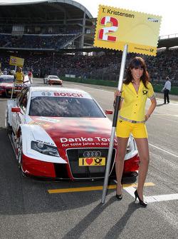 Grid girl of Tom Kristensen, Audi Sport Team Abt Audi A4 DTM
