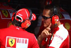 Scuderia Ferrari, Felipe Massa y Michael Schumacher, piloto de pruebas, Scuderia Ferrari
