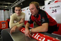 Tom Gladdis talks with an F2 mechanic