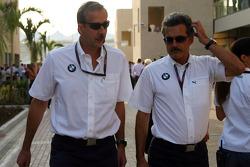 Klaus Draeger met Dr. Mario Theissen, BMW Sauber F1 Team, BMW Motorsport Director